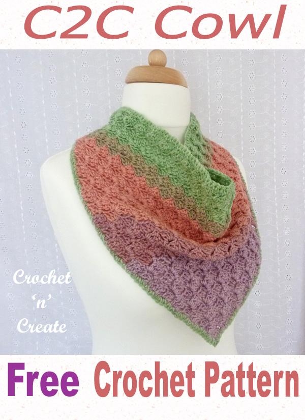 c2c crochet cowl