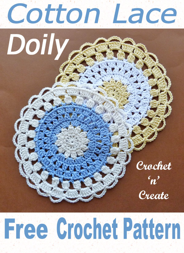 Crochet cotton lace doily