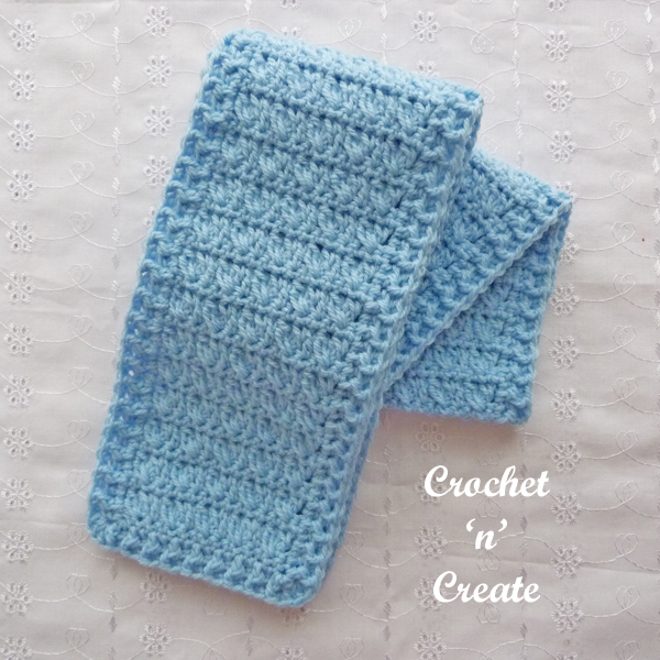 Crochet cross cluster scarf