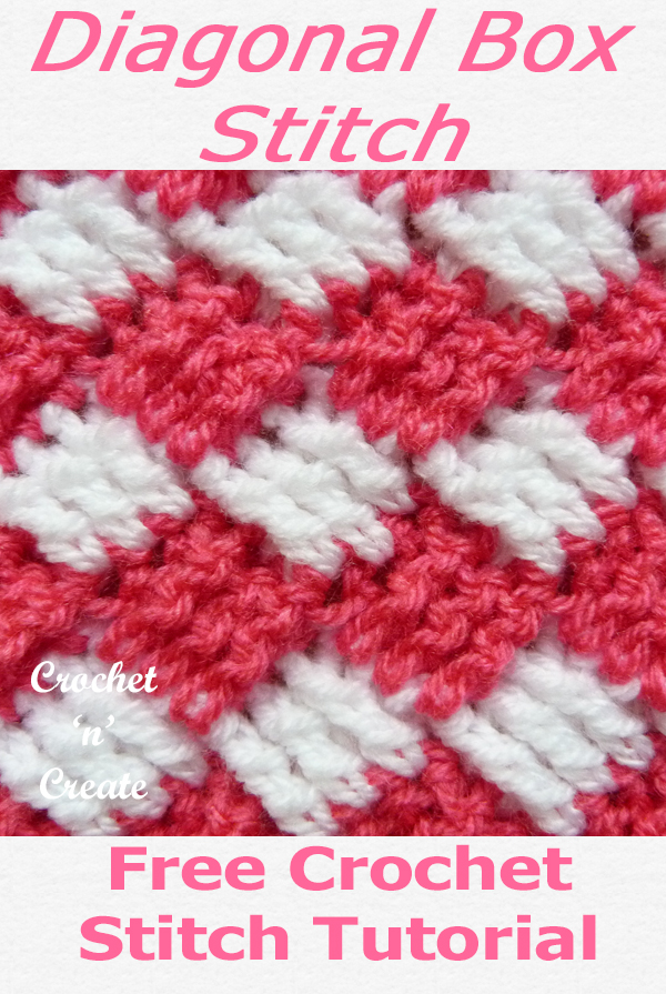 diagonal box crochet stitch