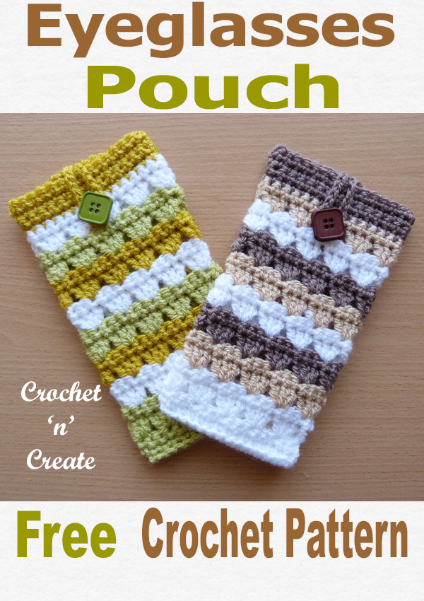 Crochet eyeglasses pouch