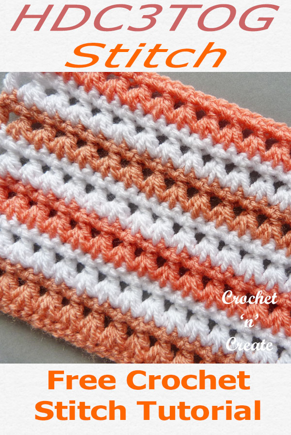 hdc3tog crochet stitch tutorial