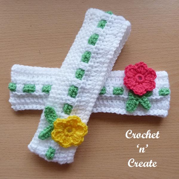 Baby crochet headband2
