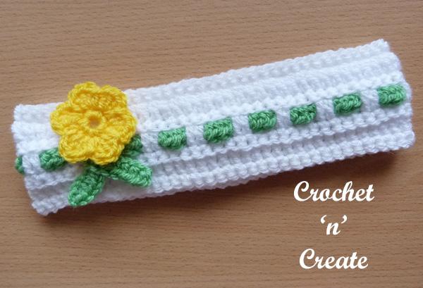 Baby crochet headband5