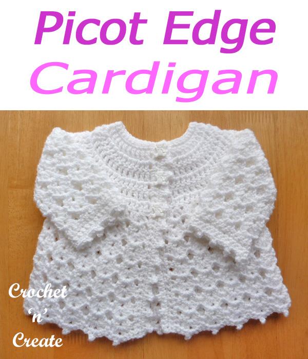 Picot edge cardigan