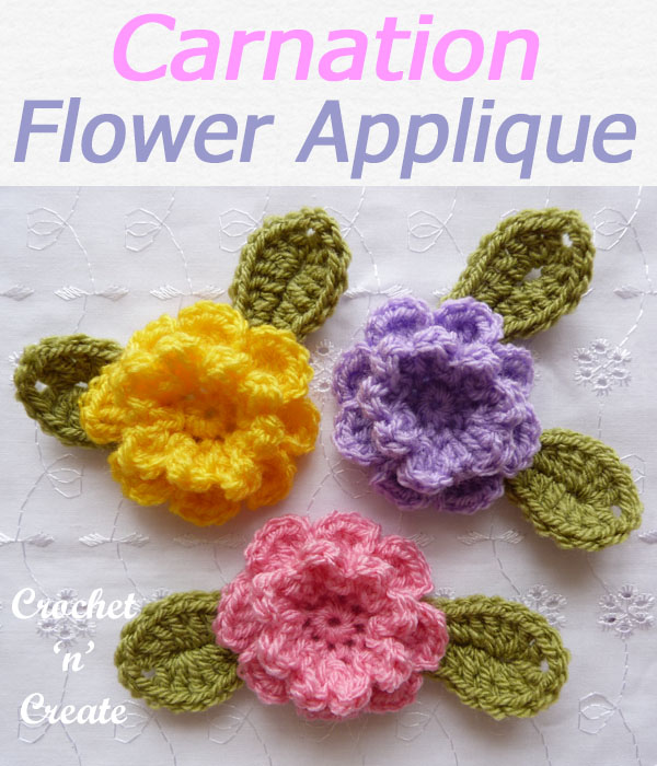 carnation flower applique