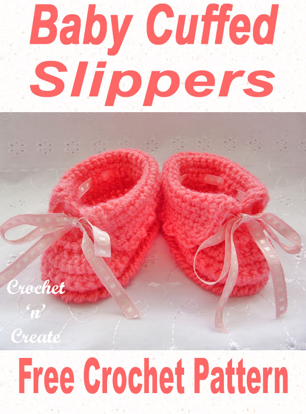 baby cuffed slippers