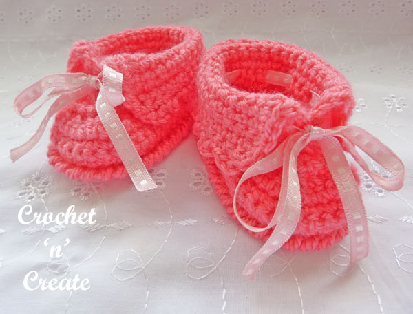 free baby cuffed slippers pattern16