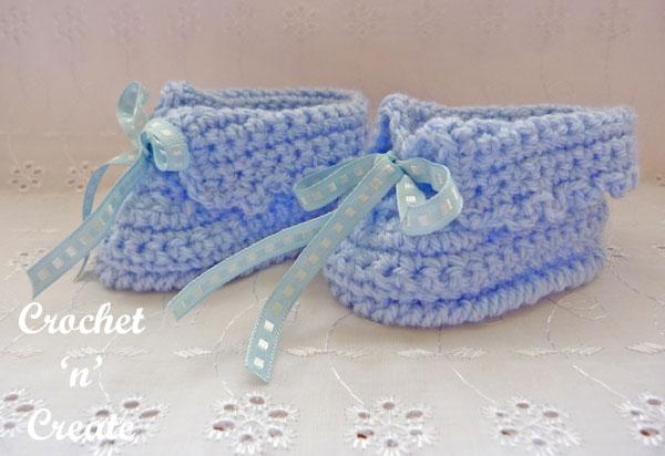 crochet baby booties7