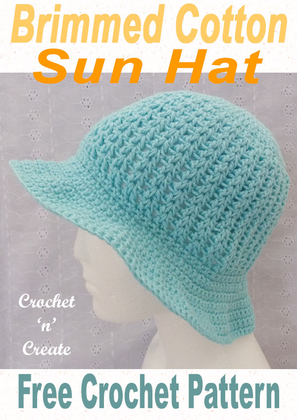 brimmed cotton sun hat