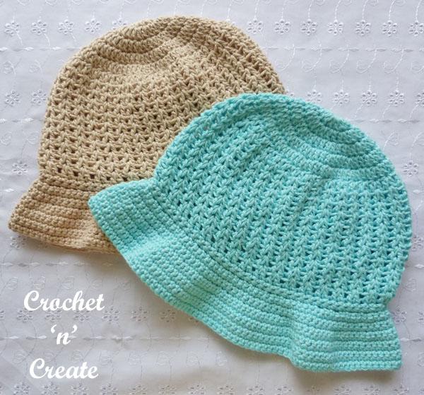 crochet brimmed hat15