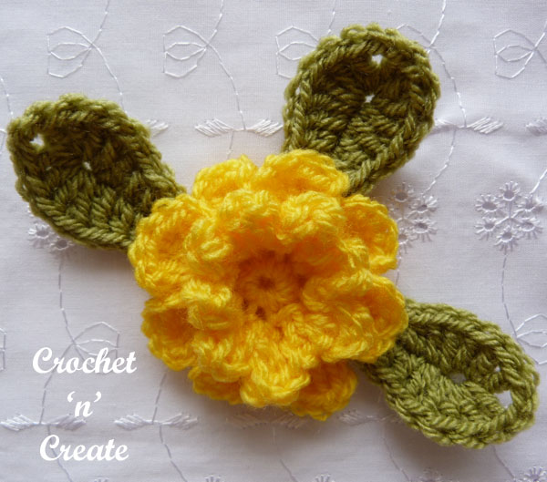 crochet flower applique2