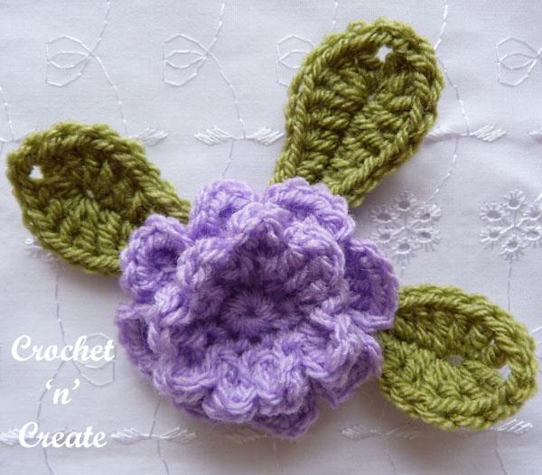 crochet carnation flower applique4