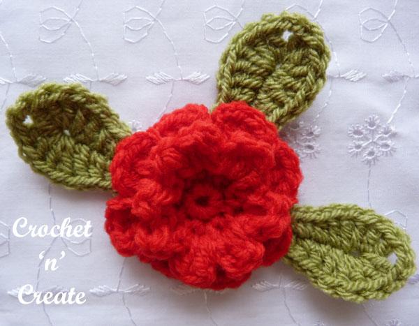 crochet carnation flower applique5