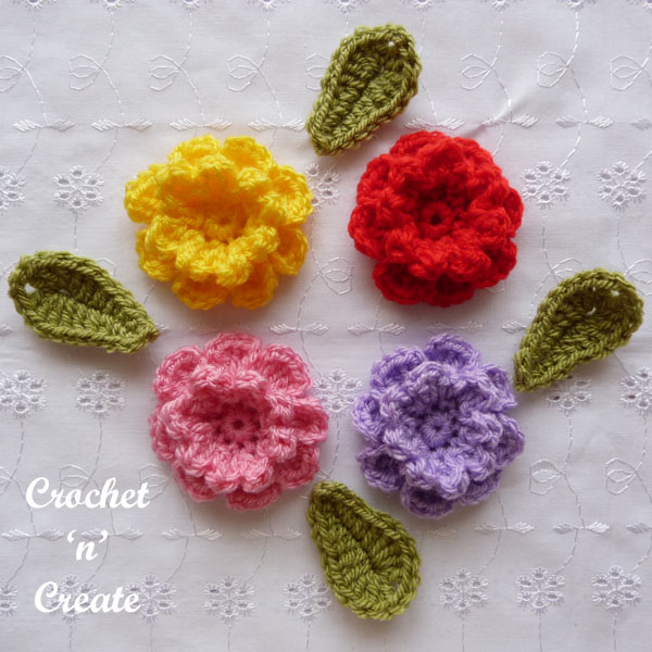 carnation flower applique9