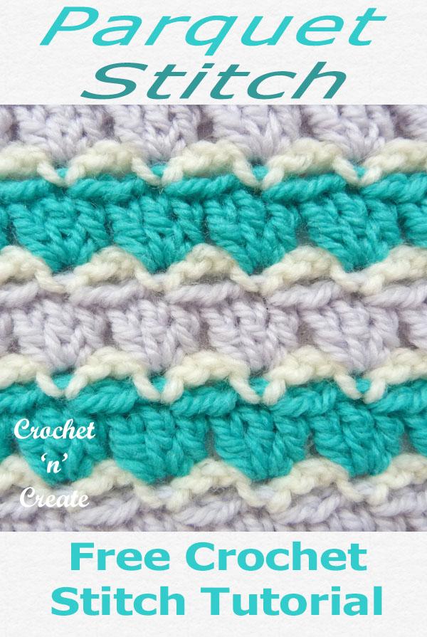 parquet crochet stitch tutorial