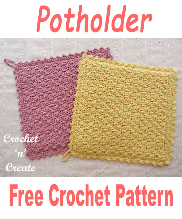Double thick cotton potholder