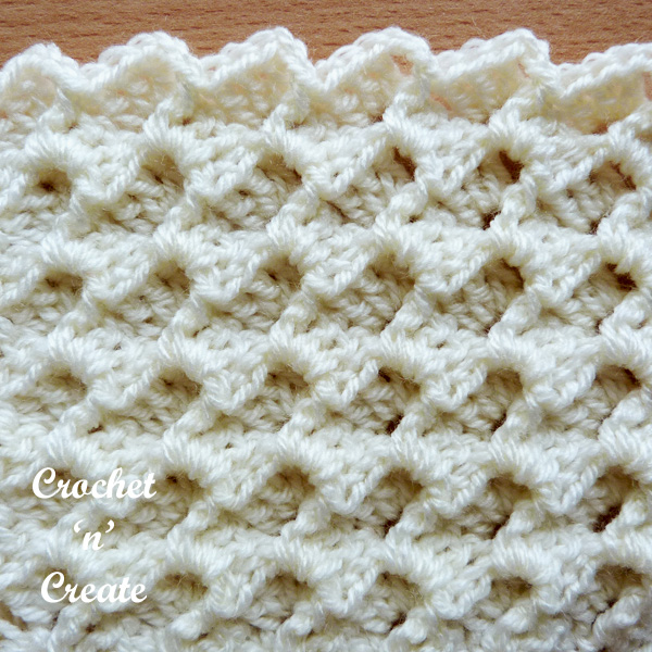 crochet tutorial textured group stitch1
