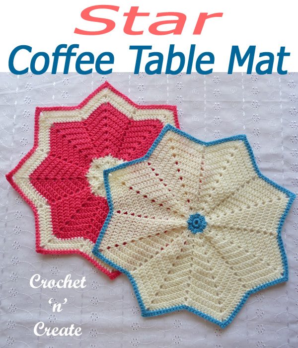 star coffee table mat