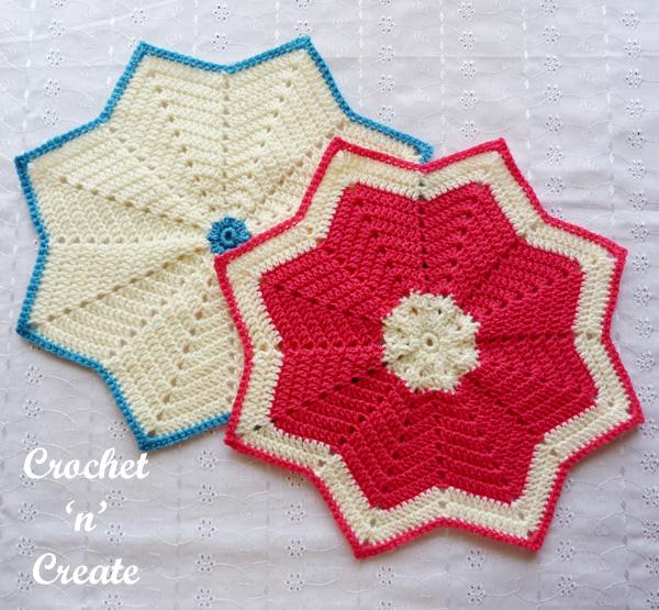 crochet star table mat1