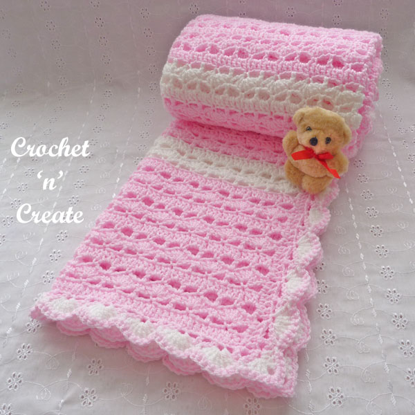 crochet sweetheart baby blanket