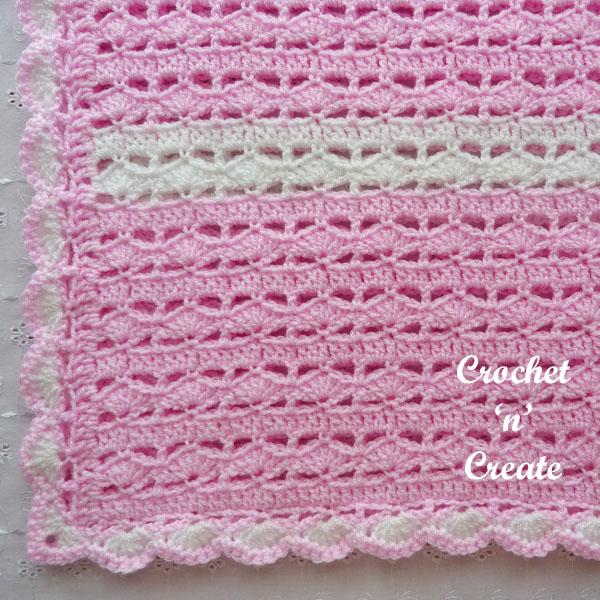 crochet sweetheart baby blanket1