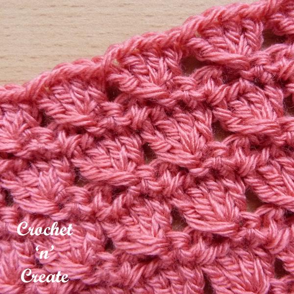 crochet groups stitch