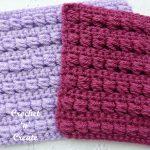 leaning crochet puff stitch
