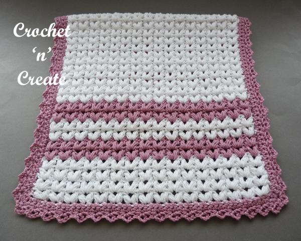 crochet puff stitch dishtowel6