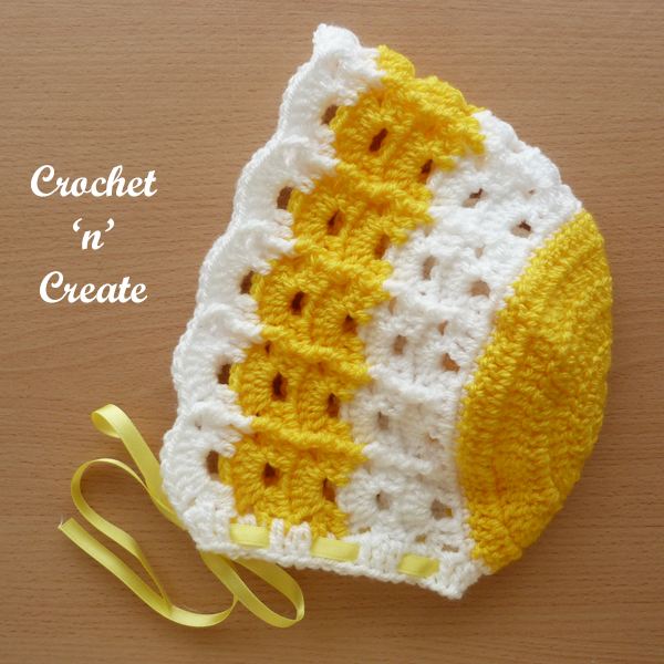 crochet baby summer bonnet