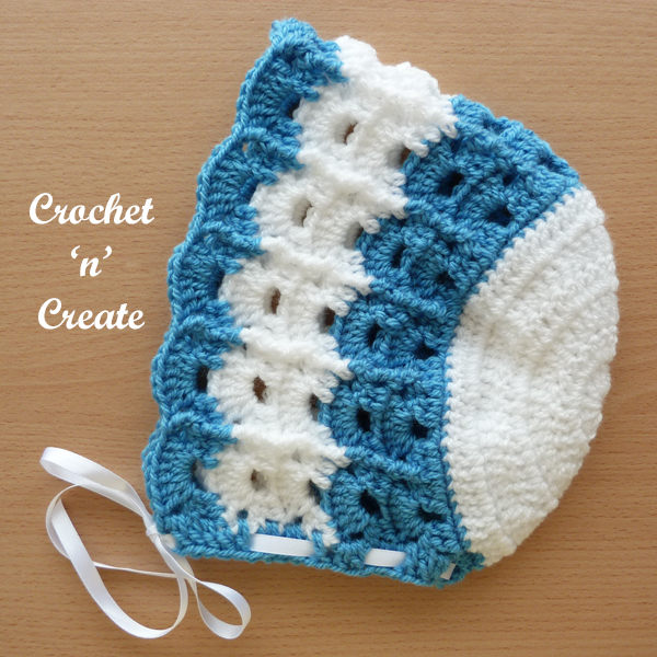 blue crochet baby summer bonnet4