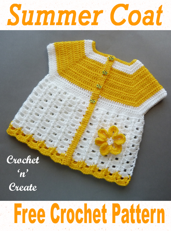 crochet baby summer coat