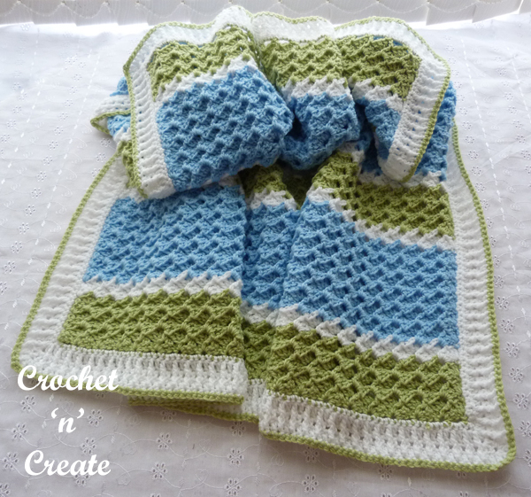 free textured group baby blanket pattern7