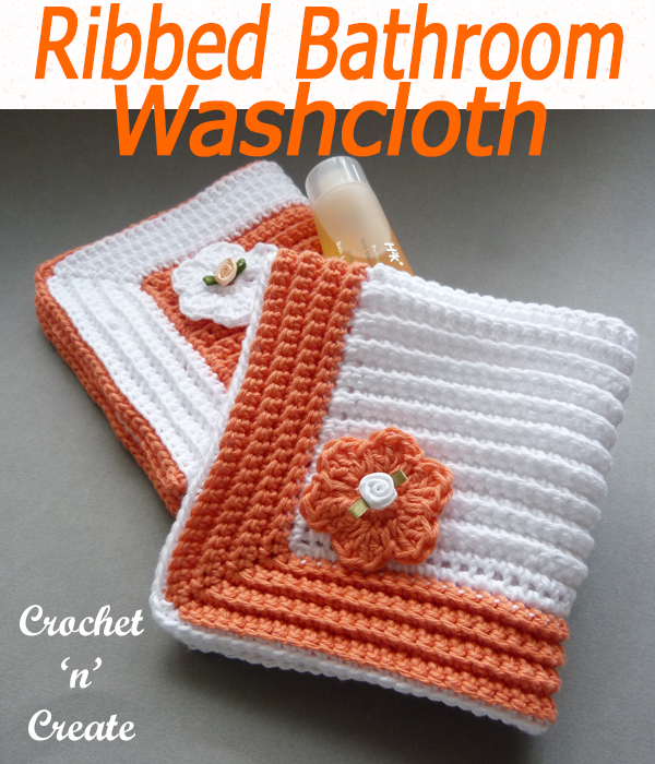ribbed bathroom washcloth