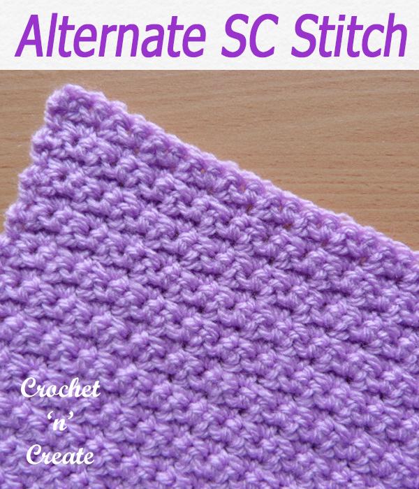alternate sc stitch