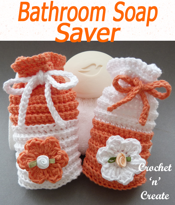 crochet bathroom soap saver