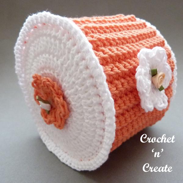 crochet toilet cover