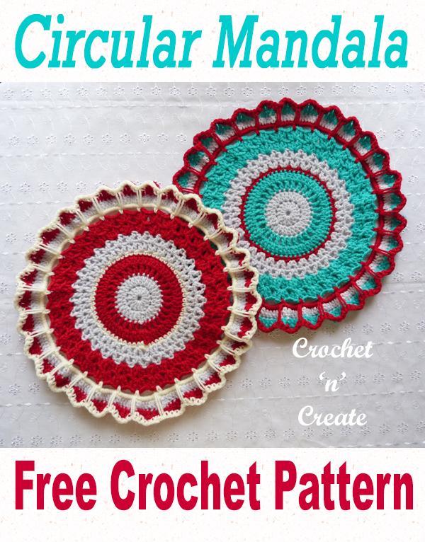 crochet circular mandala