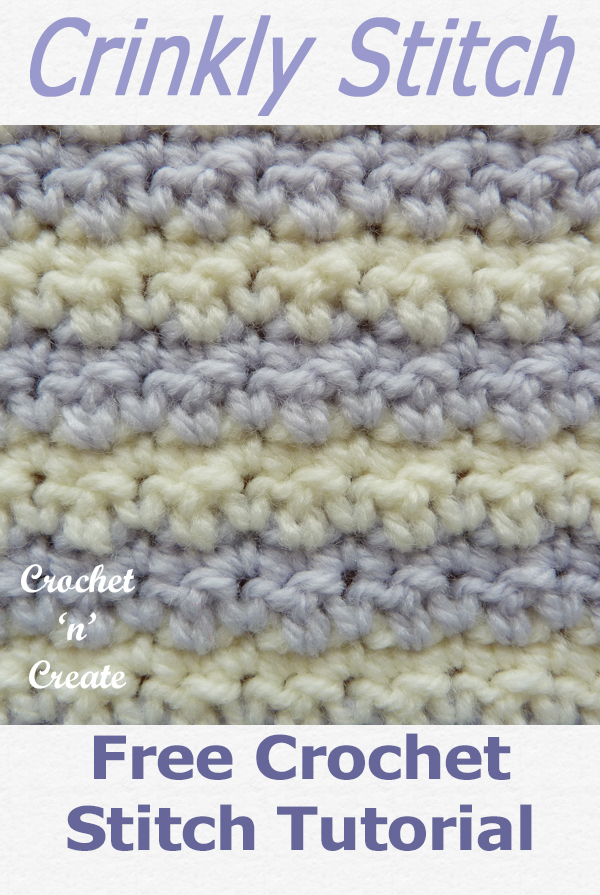 crochet crinkly stitch tutorial