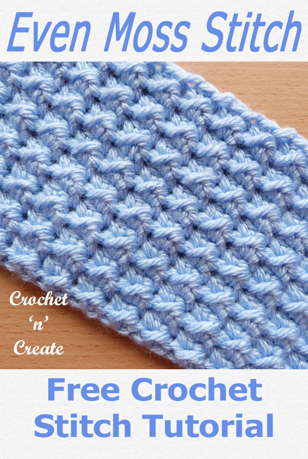 even moss crochet stitch