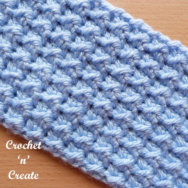 even moss crochet stitch