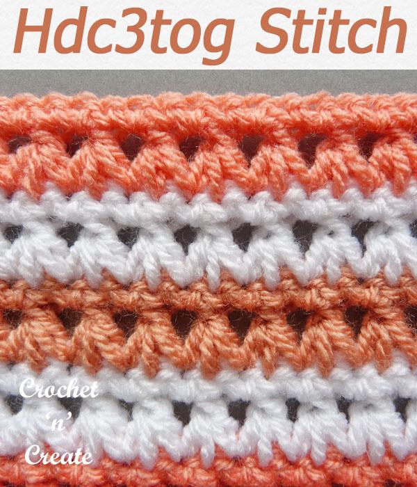hdc3tog stitch