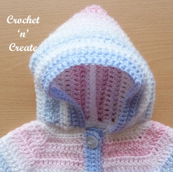 crochet hooded