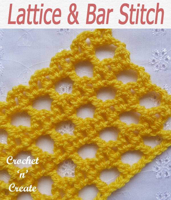 lattice and bar stitch