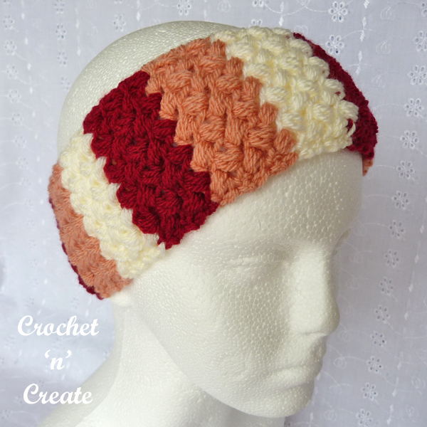 crochet lively bean hairband