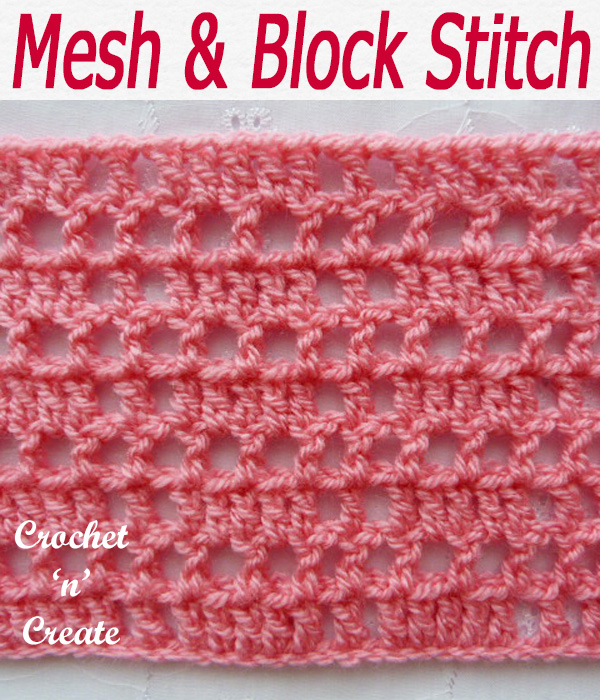 mesh and block stitch