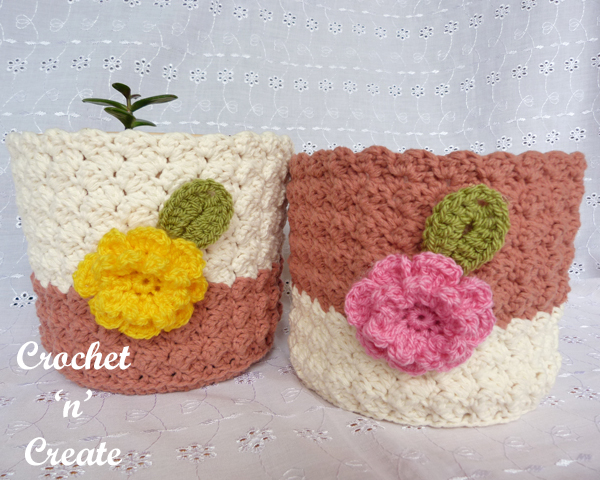 crochet plant pot cover