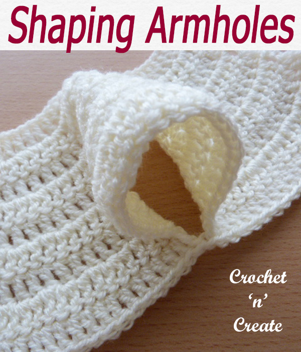 shaping armholes