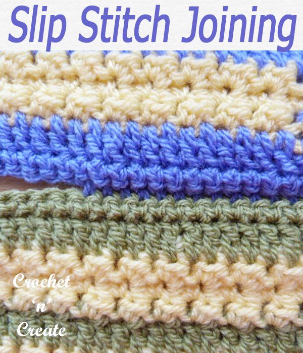 slip stitch joining