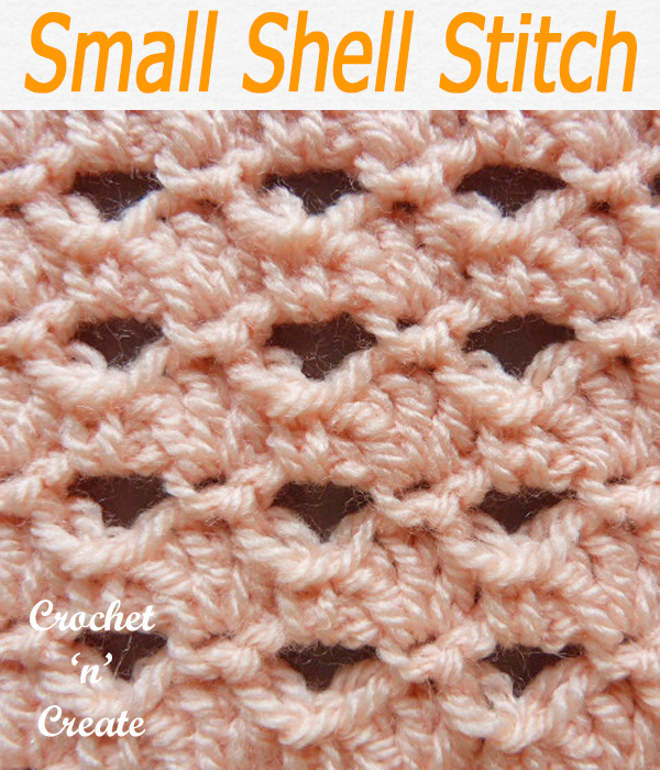 small shell stitch